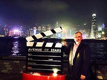 Hugh McPherson at Victoria Bay in Hong Kong, China, HKSAR