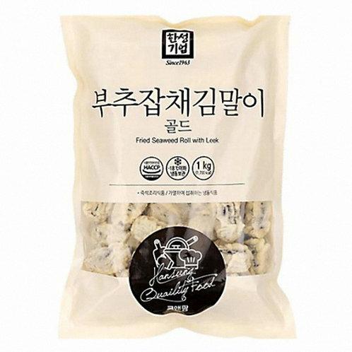 1kg 부추 잡채 김말이/ Fried Seaweed Roll With Leek