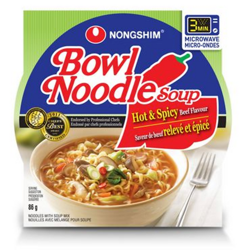 85g 육개장 사발면 / Bowl Noodle Soup Hot & Spicy