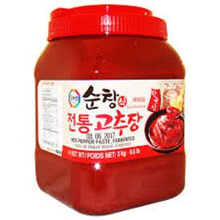 3kg 수라상 전통 고추장/ Surasang Korean Hot Pepper Paste