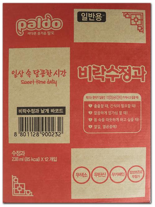 238mL x 12 비락수정과 박스 / Korean Traditional Sweet Cinnamon Drink