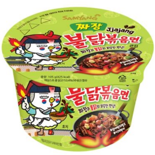 105g 짜장 불닭볶음면 / Spicy Chicken Roasted Black Cup Noodles