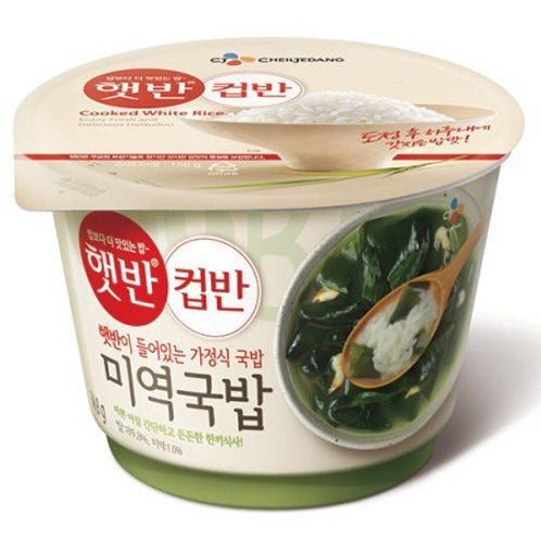 165g 컵반 미역국밥 / Cupbahn Rice with Seaweed Soup