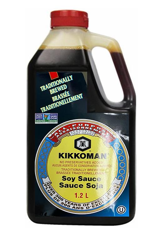 1.2L Kikkoman Traditionally Brewed Soy Sauce
