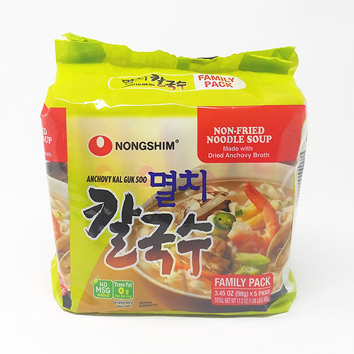 490g 농심 멸치 칼국수 5팩/Anchovy Kal Guk Soo (5Pack)