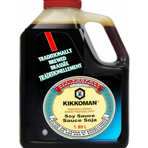 1.89L Kikkoman No Preservatives Added Traditionally Brewed Soy Sauce