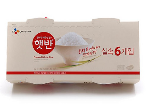 210g x 6ea 햇반 6개입 / Cooked White Rice 6 Bowls