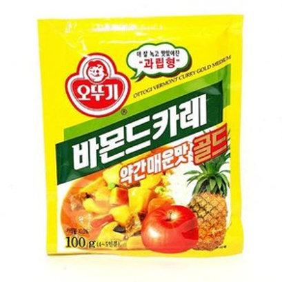 100 g   오뚜기   약간매운맛 카레 골드   Korean Bermont Yellow Curry Powder