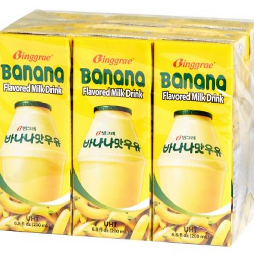 200mL x 6 바나나 우유 / Banana Flavored Milk Drink