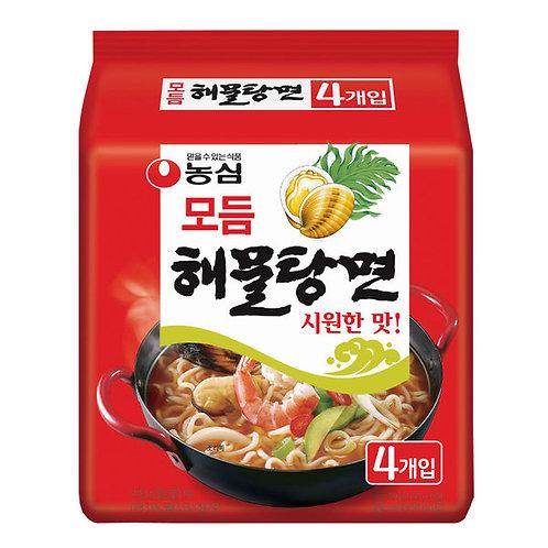 해물탕면 Spicy Seafood Noodle Soup s 500g 4Packs