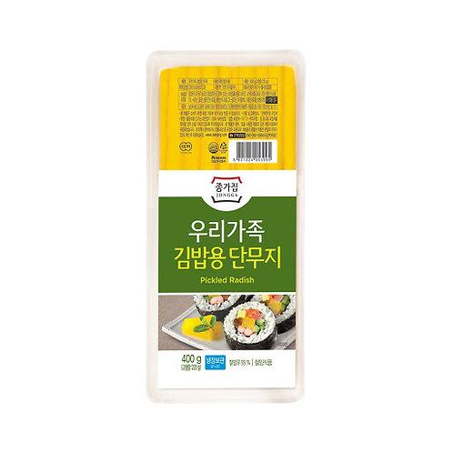 김밥단무지 JJONGA Pickled Radhish Kimbab 400g