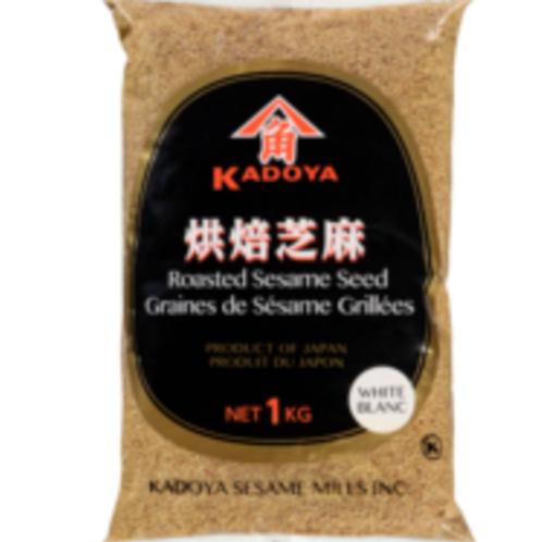 1kg Kadoya Roasted Sesame Seed White Blanc