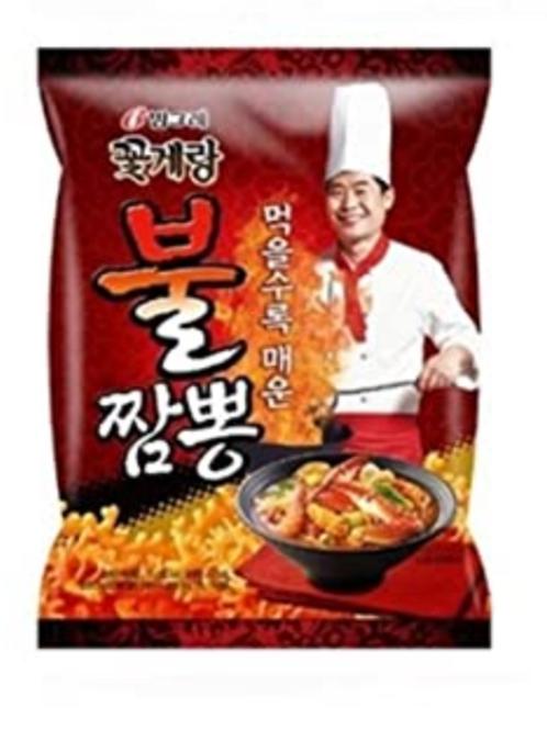 70g 꽃게랑 불짬뽕 / Crab Chips Jjampong Flavour