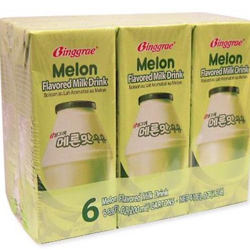 200mL x 6 멜론맛우유 / MelonFlavored Milk Drink