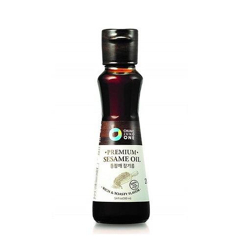 160ml 청정원 총참깨 참기름/ CJ Premium Sesame Oil