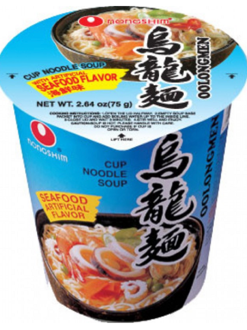 75g 오룡면 / Oolongmen Noodles Cup Seafood