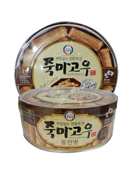 죽마고우 롤전병 (검은참깨) / Black Sesame Korean Cracker