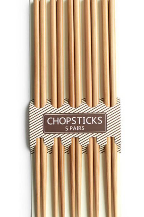 일반 대나무 젓가락 5P / Chopsticks 5 Pairs