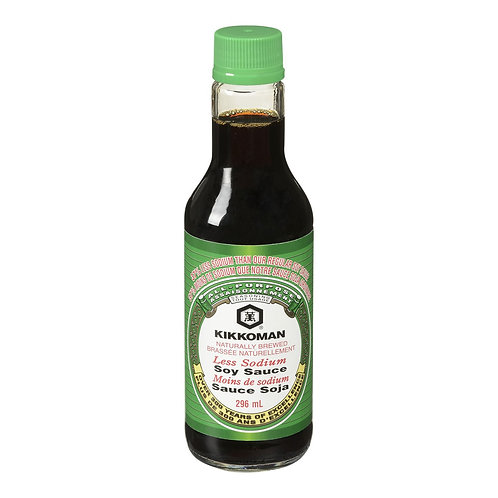 296ml Kikkoman Less Sodium Soy Sauce