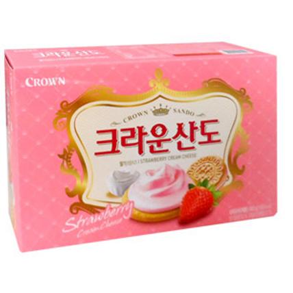 161g 크라운산도 (딸기) / Sando Biscuit, Strawberry