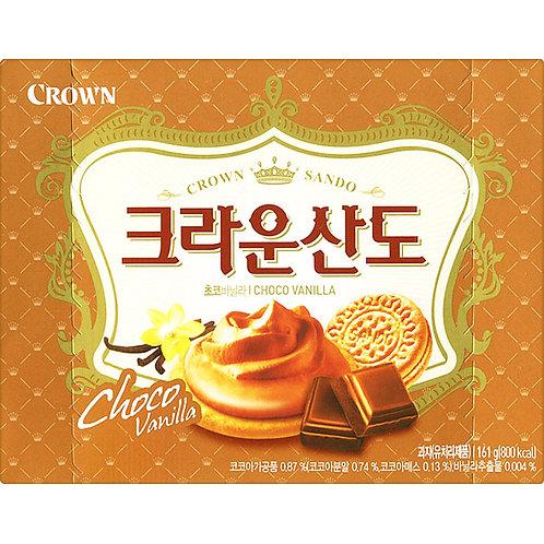 161g 크라운산도  (초코바닐라) / Sando Biscuit, Chocolate & Vanilla