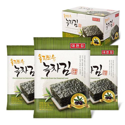 4.5g 대천김 올리브유 녹차김 도시락용/ Olive Oil Green Tea (Snack Size)