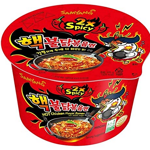 105g 핵 불닭볶음면 /2X Spicy Chicken Roasted Cup Noodles