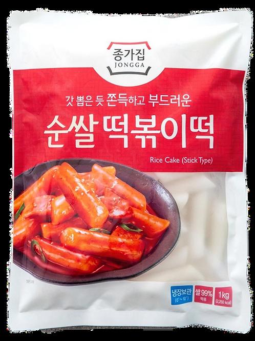 종가집 순쌀 떡볶이떡 1kg / Rice Cake (Tubular)