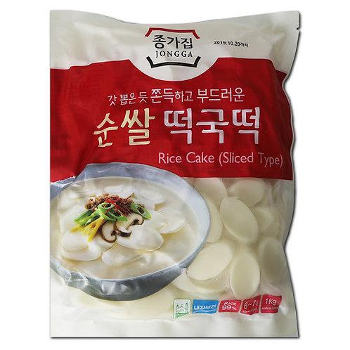 순쌀 떡국떡 1kg / Sliced Rice Cake