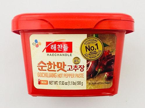 500g 해찬들 태양초 고추장 순한맛 / MILD Korean Hot Pepper Paste