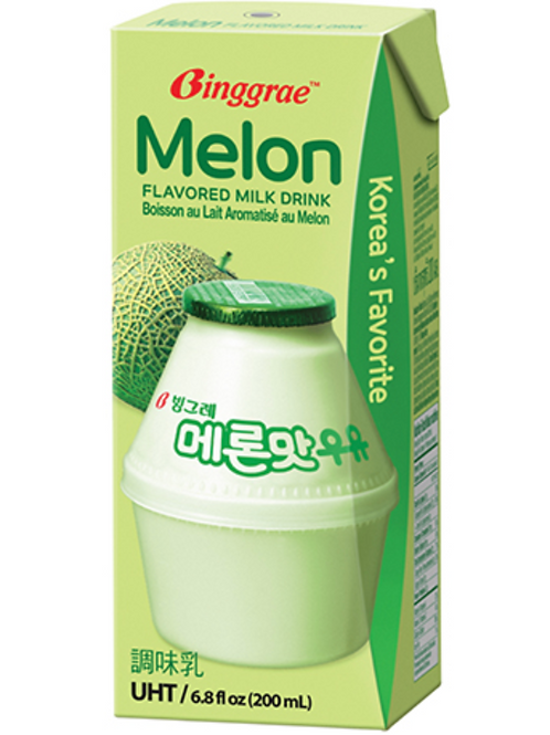 200mL 멜론맛 우유 / Melon Flavored Milk Drink