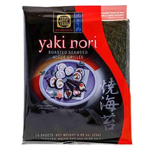 25g Yaki Nori Roasted Seaweed (10 Sheets)