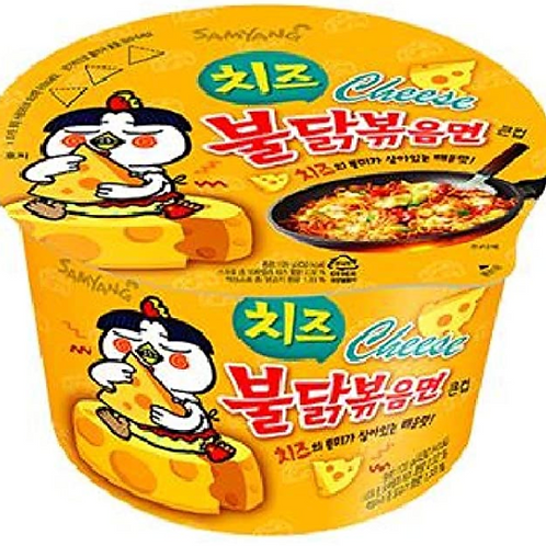 105g 치즈 불닭볶음면 / Spicy Cheese Chicken Roasted Cup Noodles