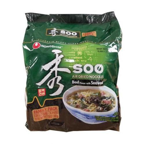 368g 농심 수 미역 건면 4팩/ Beef & Seaweed Flavoured SooNoodles