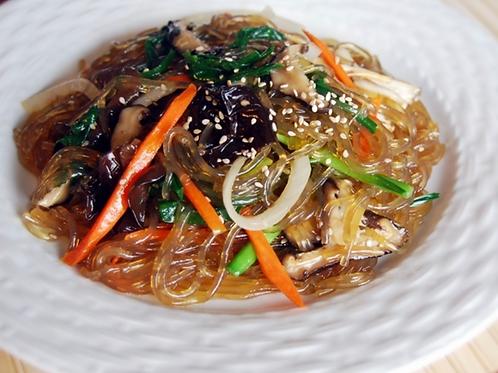 16oz 잡채 / Home Made Vegeterian Japchae