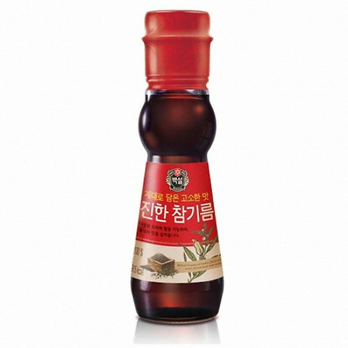 160ml 백설 진한 참기름/ BEKSUL Premium Sesame Oil