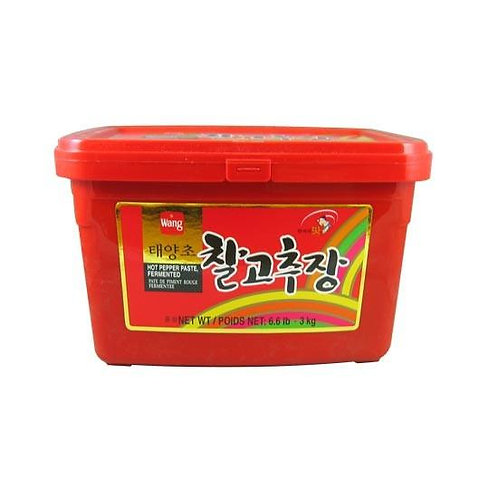 1kg 왕 태양초 찰 고추장/ WANG Korean Hot Pepper Paste