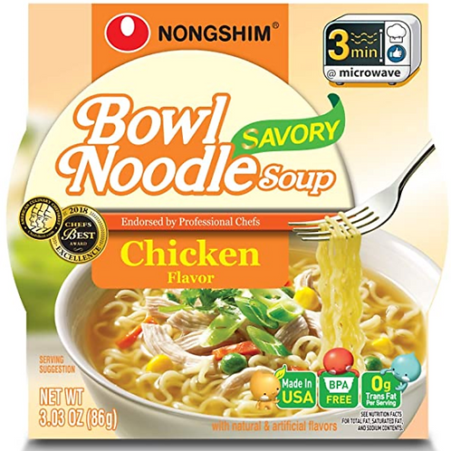 85g 육개장 치킨 사발면 / Bowl Noodle Soup Spicy Chicken Flavour