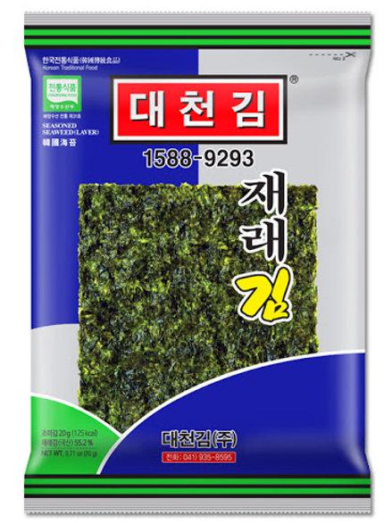 재래김 Seasoned Seaweed Laver Jere s 20g 4Packs