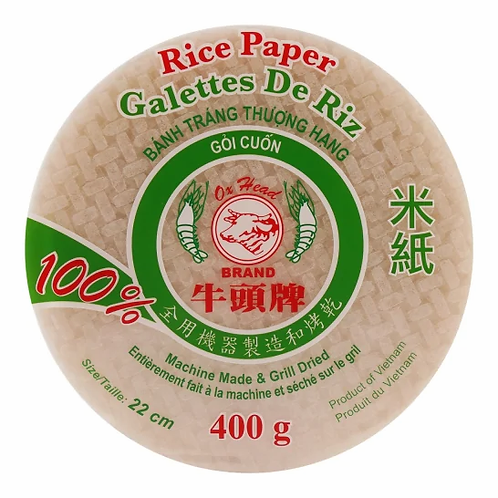 400g 월남쌈 쌀종이 22cm /  Ox Head Rice Paper