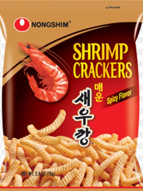 75g 매운 새우깡 / Shrimp Crackers Spicy Flavour