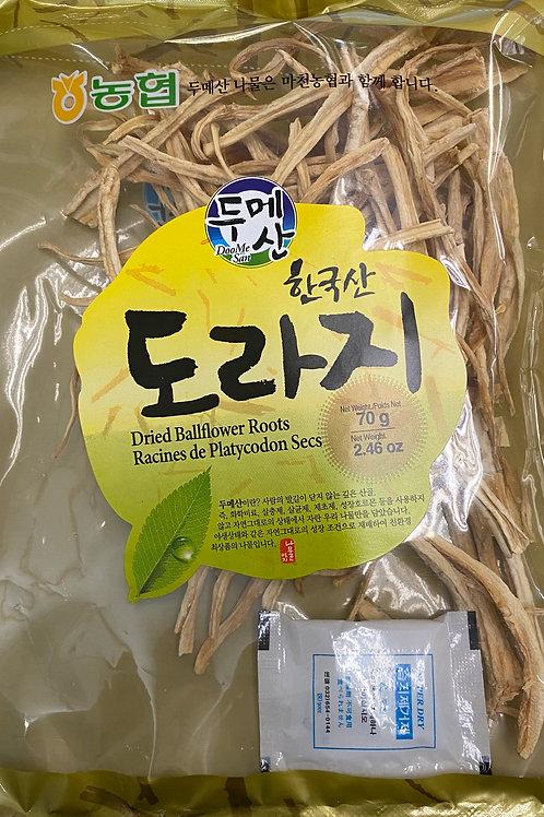 70g 두메산 도라지 한국산 / DooMeSan Dried Ballflower Roots