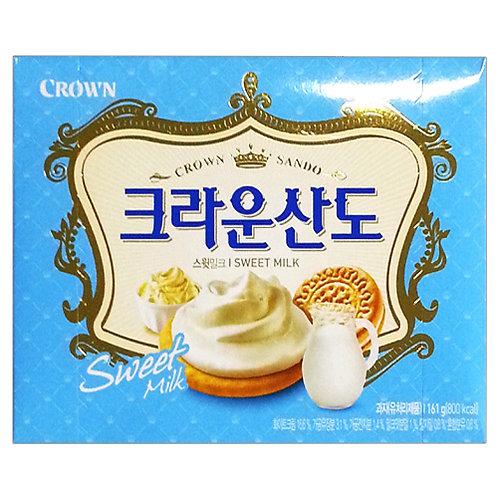161g 크라운산도 (스윗밀크) / Sando Biscuit, Sweet Milk