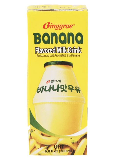 200mL 바나나 우유 / Banana Flavored Milk Drink
