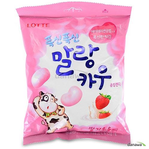 79g 폭신 폭신 말랑카우 (딸기우유) / Strawberry Milk Soft Candy