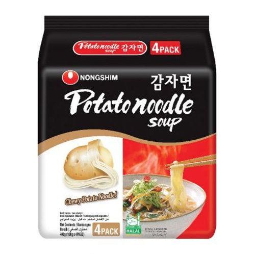 400g 농심 감자면 4팩/Potato Noodle Soup 4Pack