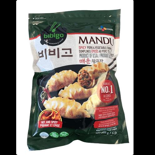 680 g | 비비고 | 매운돼지교자 | Bibigo Spicy Pork & Vegetable Dumpling