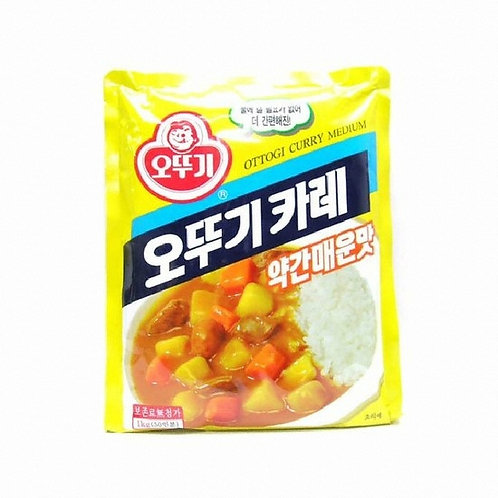 1kg 오뚜기 카레가루 (약간 매운맛) / Korean Yellow Curry Powder (Medium Spicy)