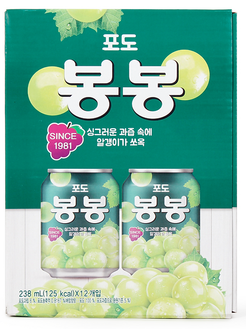 238mL x 12 포도 봉봉 / Bong Bong Grape Drink