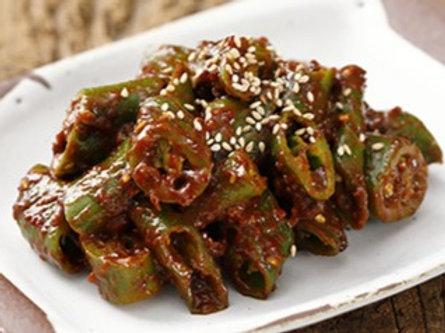 아삭이 고추무침 Pickled Chili Peppers 辣椒酱菜 250g